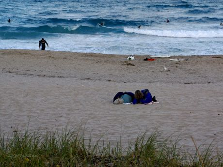 For Homeless Folks, A Day At The Beach Is No Picnic